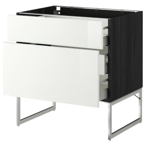 Напольный шкаф 2 фронтальные панели, 3 средняя ящик МЕТОД / МАКСИМЕРА белый артикуль № 491.066.51 в наличии. Интернет сайт IKEA Беларусь. Недорогая доставка и установка.