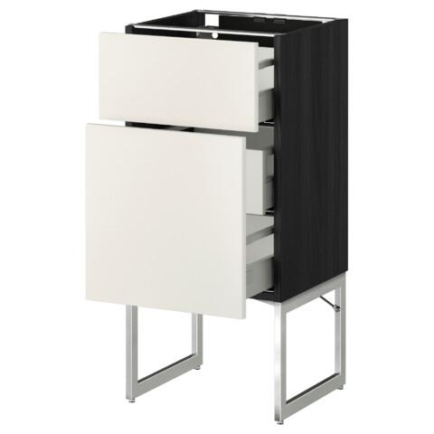 Напольный шкаф 2 фронтальные панели, 3 средняя ящик МЕТОД / МАКСИМЕРА белый артикуль № 491.079.76 в наличии. Онлайн сайт ИКЕА РБ. Недорогая доставка и установка.