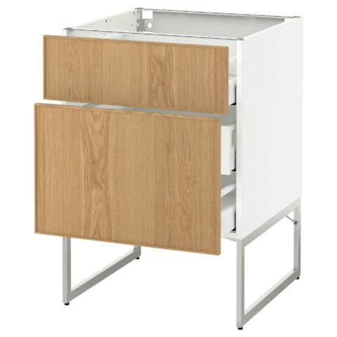 Напольный шкаф 2 фронтальные панели, 3 средняя ящик МЕТОД / МАКСИМЕРА белый артикуль № 591.065.80 в наличии. Онлайн каталог IKEA Беларусь. Недорогая доставка и установка.