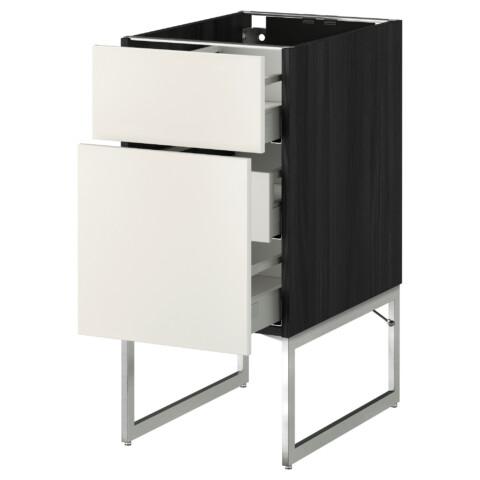 Напольный шкаф 2 фронтальные панели, 3 средняя ящик МЕТОД / МАКСИМЕРА белый артикуль № 791.065.55 в наличии. Интернет каталог IKEA Минск. Недорогая доставка и установка.