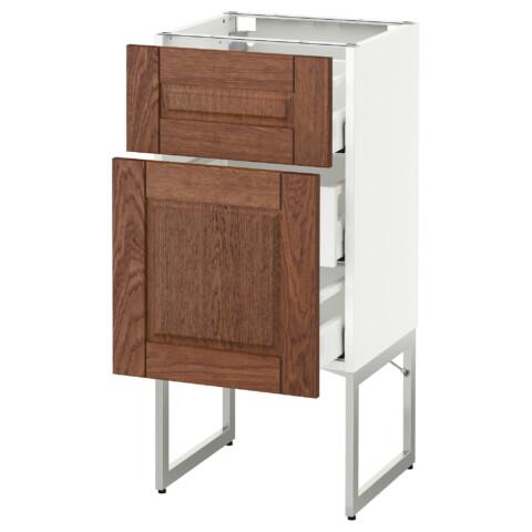 Напольный шкаф 2 фронтальные панели, 3 средняя ящик МЕТОД / МАКСИМЕРА белый артикуль № 891.079.55 в наличии. Онлайн сайт IKEA Республика Беларусь. Недорогая доставка и монтаж.
