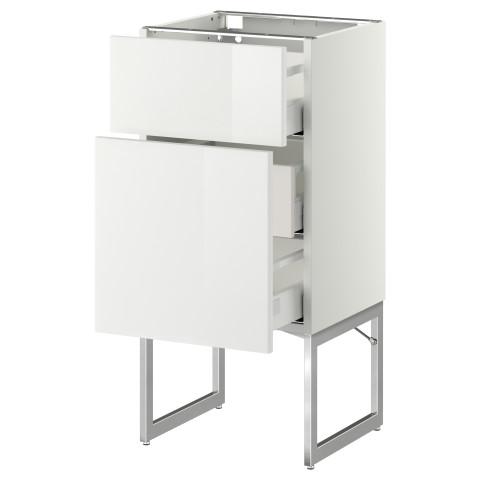 Напольный шкаф 2 фронтальные панели, 3 средняя ящик МЕТОД / МАКСИМЕРА белый артикуль № 991.079.88 в наличии. Online каталог IKEA РБ. Недорогая доставка и установка.
