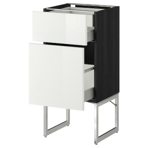 Напольный шкаф 2 фронтальных панели, 2 нижних,1 встроенный ящик МЕТОД / МАКСИМЕРА черный артикуль № 191.081.33 в наличии. Онлайн магазин IKEA Беларусь. Быстрая доставка и установка.