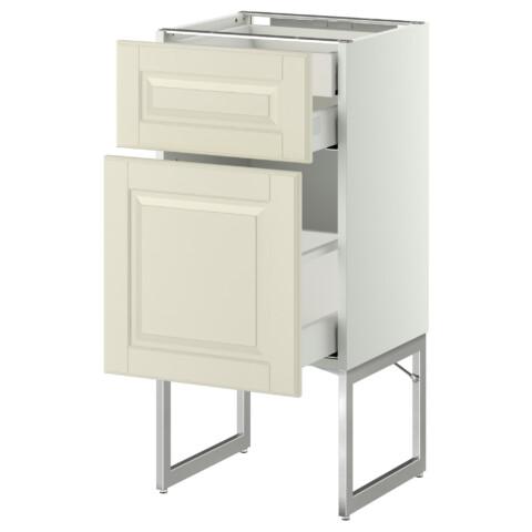 Напольный шкаф 2 фронтальных панели, 2 нижних,1 встроенный ящик МЕТОД / МАКСИМЕРА белый артикуль № 291.081.37 в наличии. Онлайн сайт IKEA Минск. Недорогая доставка и установка.