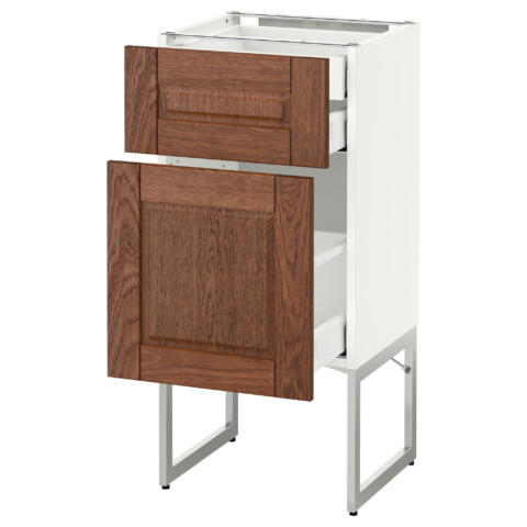 Напольный шкаф 2 фронтальных панели, 2 нижних,1 встроенный ящик МЕТОД / МАКСИМЕРА белый артикуль № 391.081.13 в наличии. Онлайн сайт IKEA Республика Беларусь. Недорогая доставка и установка.