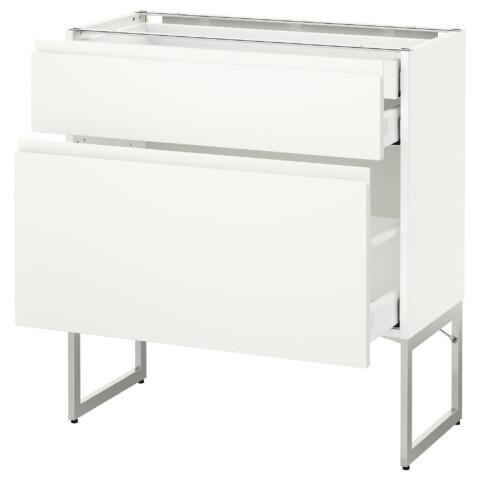 Напольный шкаф 2 фронтальных панели, 2 нижних,1 встроенный ящик МЕТОД / МАКСИМЕРА белый артикуль № 491.307.88 в наличии. Интернет сайт IKEA Республика Беларусь. Быстрая доставка и установка.