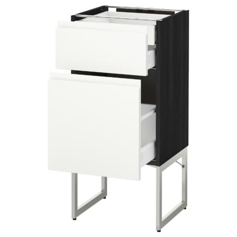 Напольный шкаф 2 фронтальных панели, 2 нижних,1 встроенный ящик МЕТОД / МАКСИМЕРА черный артикуль № 991.307.76 в наличии. Интернет магазин IKEA РБ. Быстрая доставка и монтаж.