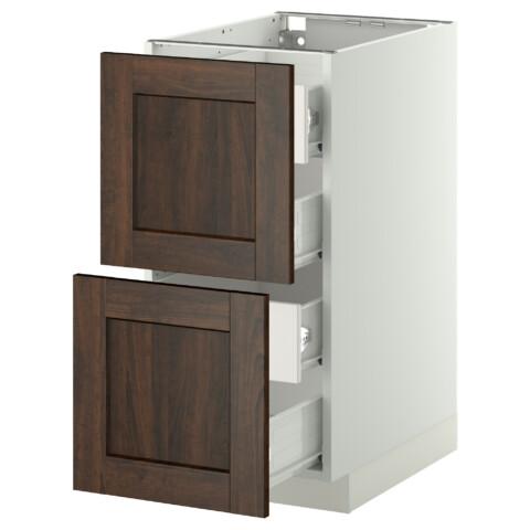Напольный шкаф 2 фронтальных панели, 4 средняя ящик МЕТОД / ФОРВАРА белый артикуль № 099.148.33 в наличии. Онлайн магазин IKEA Минск. Недорогая доставка и установка.