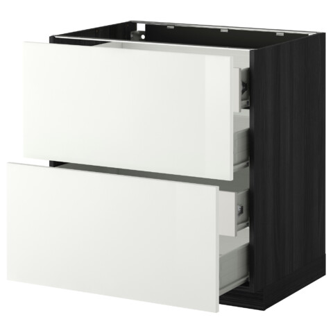 Напольный шкаф 2 фронтальных панели, 4 средняя ящик МЕТОД / ФОРВАРА белый артикуль № 399.115.74 в наличии. Интернет магазин IKEA РБ. Быстрая доставка и соборка.