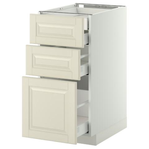 Напольный шкаф 3 фронтальные панели/2нзк/1срд/1 встроенный ящик МЕТОД / МАКСИМЕРА белый артикуль № 891.040.23 в наличии. Интернет каталог IKEA РБ. Быстрая доставка и установка.