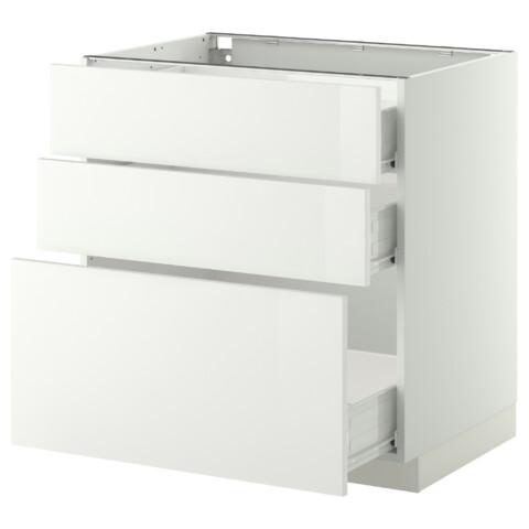 Напольный шкаф 3 фронтальные панели, 3 средних ящика МЕТОД / ФОРВАРА белый артикуль № 990.247.28 в наличии. Онлайн магазин IKEA РБ. Быстрая доставка и установка.