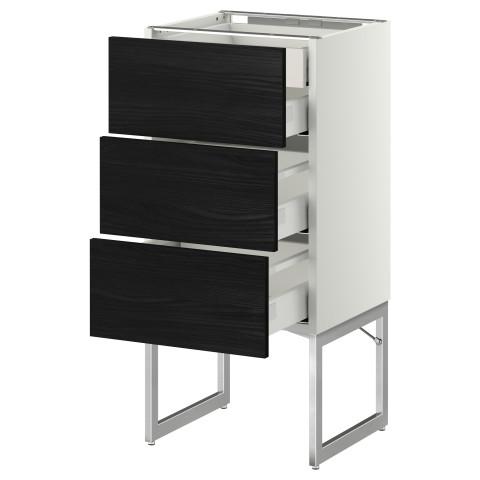 Напольный шкаф 3 фронтальных панели, 2 нижних, 2 средних ящика МЕТОД / МАКСИМЕРА белый артикуль № 391.071.61 в наличии. Онлайн каталог IKEA Минск. Недорогая доставка и установка.