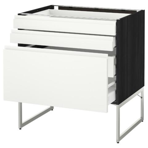 Напольный шкаф 3 фронтальных панели, 2 нижних, 2 средних ящика МЕТОД / МАКСИМЕРА белый артикуль № 591.307.02 в наличии. Онлайн магазин IKEA Беларусь. Быстрая доставка и соборка.
