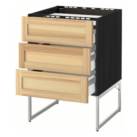 Напольный шкаф, 3 фронтальных панели, 3 ящика МЕТОД / МАКСИМЕРА черный артикуль № 691.532.84 в наличии. Интернет магазин IKEA Беларусь. Недорогая доставка и установка.