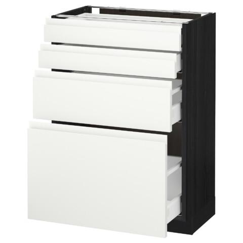 Напольный шкаф 4 фронтальных панели, 4 ящика МЕТОД / МАКСИМЕРА черный артикуль № 991.309.55 в наличии. Интернет сайт IKEA Минск. Недорогая доставка и монтаж.