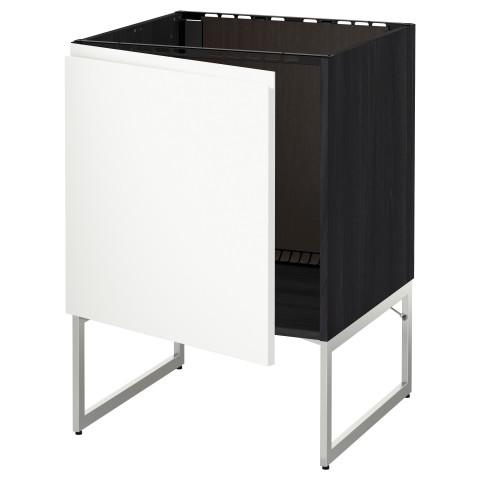 Напольный шкаф для раковины МЕТОД черный артикуль № 391.114.36 в наличии. Интернет магазин IKEA РБ. Быстрая доставка и соборка.