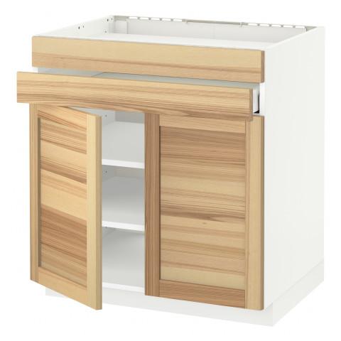 Напольный шкаф для варочной панели, 2 ящика, 2 фасада, 1 ящик МЕТОД / МАКСИМЕРА белый артикуль № 491.534.21 в наличии. Онлайн магазин ИКЕА РБ. Недорогая доставка и соборка.