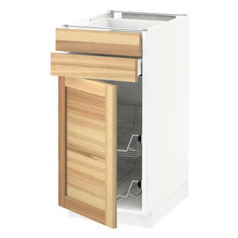 Напольный шкаф, дверца, 2 ящика, проволочных корзин МЕТОД / МАКСИМЕРА белый артикуль № 591.533.74 в наличии. Онлайн сайт IKEA Беларусь. Быстрая доставка и установка.