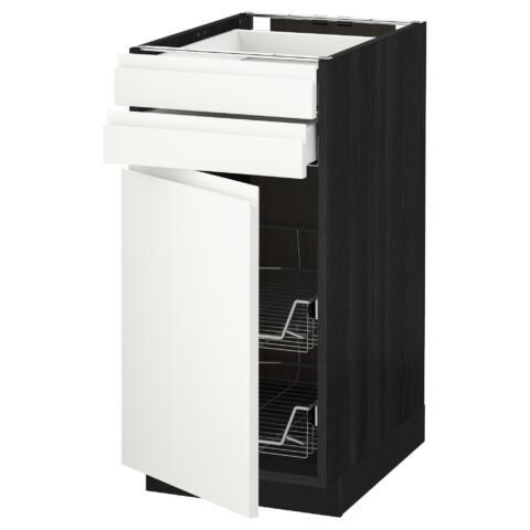 Напольный шкаф, дверца, 2 ящика, проволочных корзин МЕТОД / МАКСИМЕРА белый артикуль № 691.308.67 в наличии. Онлайн магазин IKEA РБ. Недорогая доставка и установка.