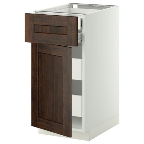 Напольный шкаф дверцы/фрнт/2нзк/2срд ящик МЕТОД / ФОРВАРА белый артикуль № 299.147.71 в наличии. Интернет магазин IKEA РБ. Недорогая доставка и установка.