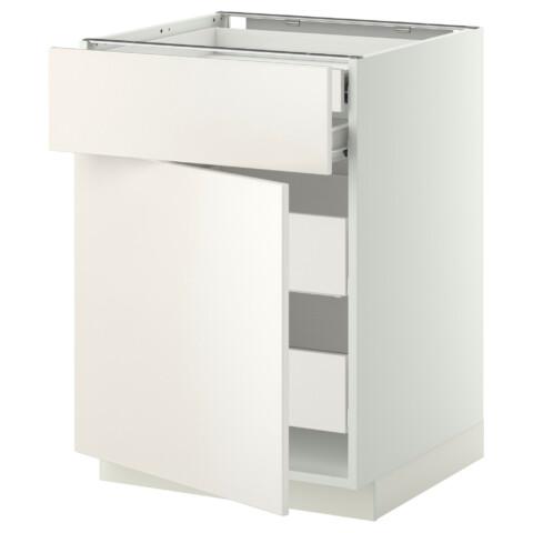 Напольный шкаф дверцы/фрнт/2нзк/2срд ящик МЕТОД / ФОРВАРА белый артикуль № 299.157.23 в наличии. Интернет сайт IKEA РБ. Быстрая доставка и установка.