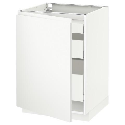 Напольный шкаф с 1 дверцей, 3 ящика МЕТОД / МАКСИМЕРА белый артикуль № 291.308.74 в наличии. Онлайн каталог IKEA РБ. Быстрая доставка и установка.