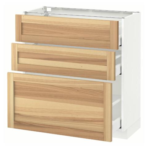 Напольный шкаф с 3 ящиками МЕТОД / МАКСИМЕРА белый артикуль № 191.534.51 в наличии. Онлайн сайт IKEA Минск. Быстрая доставка и монтаж.