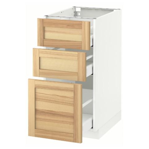Напольный шкаф с 3 ящиками МЕТОД / МАКСИМЕРА белый артикуль № 691.533.83 в наличии. Онлайн магазин ИКЕА РБ. Быстрая доставка и соборка.