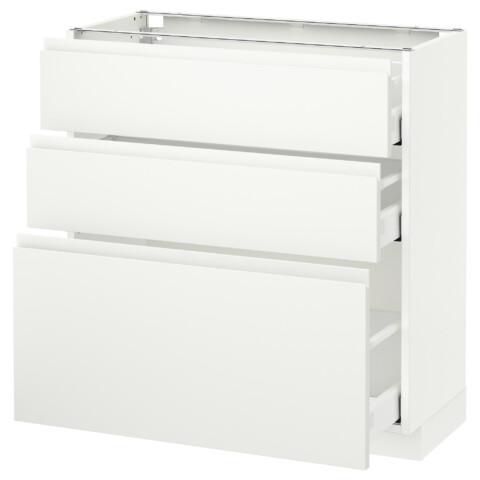 Напольный шкаф с 3 ящиками МЕТОД / МАКСИМЕРА белый артикуль № 791.309.42 в наличии. Интернет каталог IKEA Беларусь. Быстрая доставка и установка.