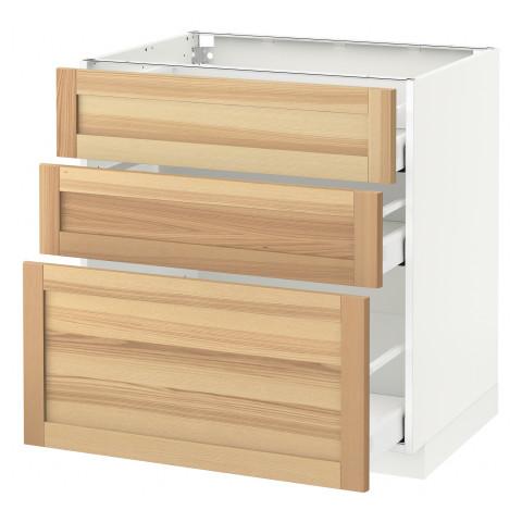 Напольный шкаф с 3 ящиками МЕТОД / МАКСИМЕРА белый артикуль № 791.533.87 в наличии. Онлайн каталог ИКЕА РБ. Быстрая доставка и установка.