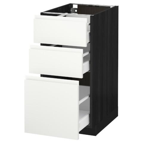 Напольный шкаф с 3 ящиками МЕТОД / МАКСИМЕРА черный артикуль № 991.308.75 в наличии. Онлайн сайт IKEA Беларусь. Быстрая доставка и монтаж.