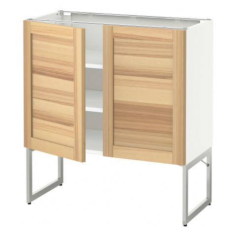 Напольный шкаф с полками, 2 двери МЕТОД белый артикуль № 791.339.31 в наличии. Online сайт IKEA Минск. Недорогая доставка и установка.