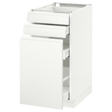 Напольный шкаф с выдвижными модулями, 2 фронтальные панели МЕТОД / МАКСИМЕРА белый артикуль № 191.308.98 в наличии. Интернет каталог IKEA РБ. Недорогая доставка и соборка.
