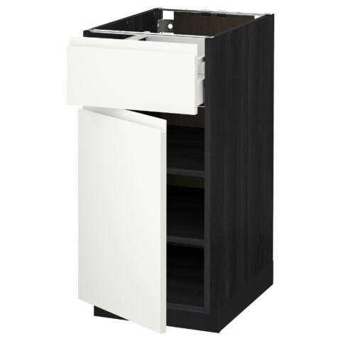 Напольный шкаф с ящиком, дверью МЕТОД / МАКСИМЕРА черный артикуль № 191.308.55 в наличии. Интернет сайт IKEA Минск. Быстрая доставка и установка.