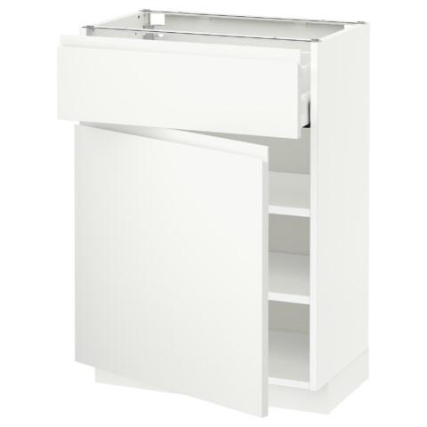 Напольный шкаф с ящиком, дверью МЕТОД / МАКСИМЕРА белый артикуль № 591.309.24 в наличии. Онлайн сайт IKEA Минск. Быстрая доставка и установка.