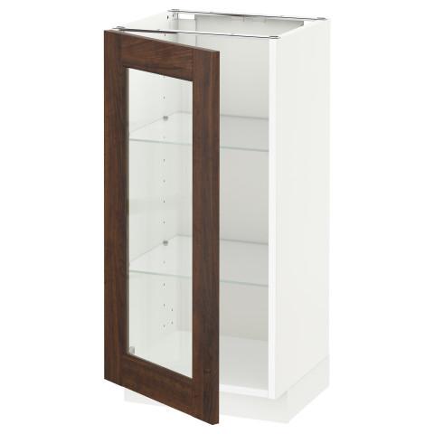 Напольный шкаф со стеклянной дверцей МЕТОД белый артикуль № 890.525.90 в наличии. Онлайн сайт IKEA Беларусь. Быстрая доставка и установка.