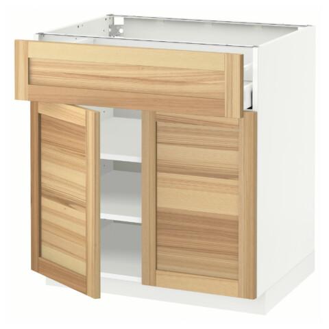Напольный шкаф + ящик, 2 дверцы МЕТОД / МАКСИМЕРА белый артикуль № 191.533.66 в наличии. Online сайт IKEA РБ. Недорогая доставка и соборка.