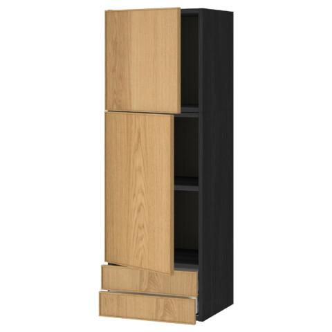 Навесной шкаф, 2 дверцы, 2 ящика МЕТОД / МАКСИМЕРА черный артикуль № 091.091.14 в наличии. Онлайн сайт ИКЕА Беларусь. Быстрая доставка и соборка.