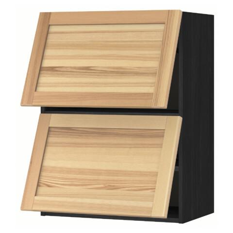 Навесной шкаф, 2 дверцы, горизонтальный МЕТОД черный артикуль № 491.342.96 в наличии. Интернет магазин ИКЕА РБ. Быстрая доставка и монтаж.
