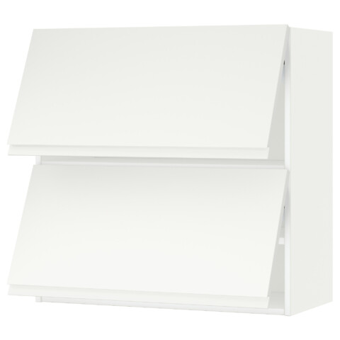 Навесной шкаф, 2 дверцы, горизонтальный МЕТОД белый артикуль № 591.113.55 в наличии. Online сайт IKEA Беларусь. Быстрая доставка и установка.