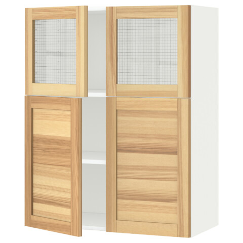 Навесной шкаф, полки, 2 двери, 2 стеклянные дверцы МЕТОД белый артикуль № 491.342.63 в наличии. Интернет магазин IKEA РБ. Недорогая доставка и соборка.