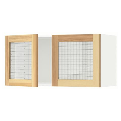 Навесной шкаф с 2 стеклянная дверями МЕТОД белый артикуль № 191.342.45 в наличии. Онлайн магазин ИКЕА РБ. Быстрая доставка и установка.