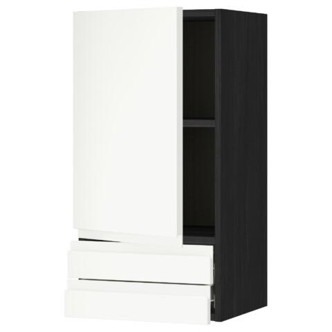 Навесной шкаф с дверцей, 2 ящика МЕТОД / ФОРВАРА белый артикуль № 391.117.09 в наличии. Интернет сайт IKEA Минск. Быстрая доставка и соборка.