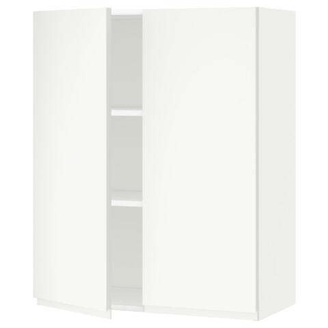 Навесной шкаф с полками, 2 дверцы МЕТОД белый артикуль № 291.113.47 в наличии. Онлайн каталог IKEA Минск. Недорогая доставка и соборка.