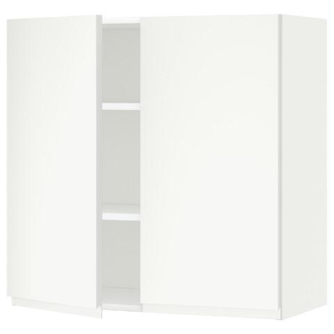 Навесной шкаф с полками, 2 дверцы МЕТОД белый артикуль № 491.113.46 в наличии. Online сайт IKEA Минск. Недорогая доставка и установка.