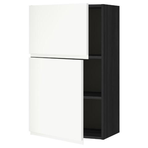 Навесной шкаф с полками, 2 дверцы МЕТОД черный артикуль № 891.114.53 в наличии. Онлайн каталог IKEA Республика Беларусь. Недорогая доставка и установка.