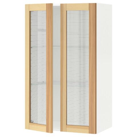 Навесной шкаф с полками, 2 стекло дверцы МЕТОД белый артикуль № 091.342.55 в наличии. Онлайн каталог IKEA РБ. Быстрая доставка и монтаж.