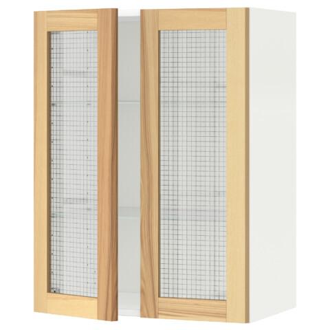 Навесной шкаф с полками, 2 стекло дверцы МЕТОД белый артикуль № 991.342.51 в наличии. Интернет сайт IKEA Республика Беларусь. Быстрая доставка и монтаж.