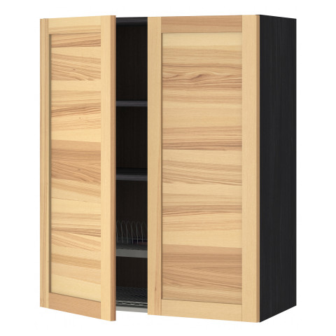 Навесной шкаф с посудной сушилкой, 2 дверцы МЕТОД черный артикуль № 391.343.34 в наличии. Онлайн сайт ИКЕА Беларусь. Недорогая доставка и установка.