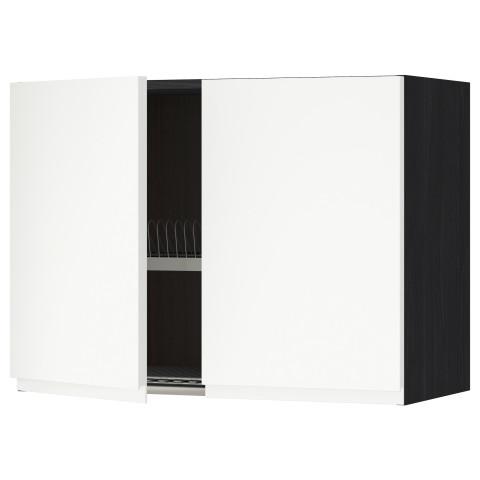 Навесной шкаф с посудной сушилкой, 2 дверцы МЕТОД белый артикуль № 791.114.63 в наличии. Интернет каталог IKEA Минск. Недорогая доставка и установка.